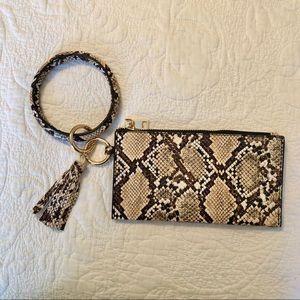Snakeskin Circle Bracelet Keychain AND Wristlet
